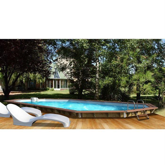 Piscine bois alu waterclip 840x370x129 premium achat for Achat piscine bois