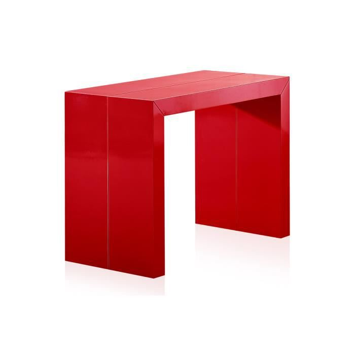 table console extensible pas cher 250 cm rouge achat vente console table console. Black Bedroom Furniture Sets. Home Design Ideas