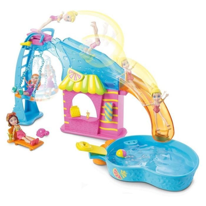 polly pocket piscine et toboggan achat vente univers