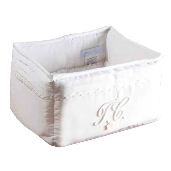 panier de toilette monogramme blanc achat vente petit rangement 3607020241221 cdiscount. Black Bedroom Furniture Sets. Home Design Ideas