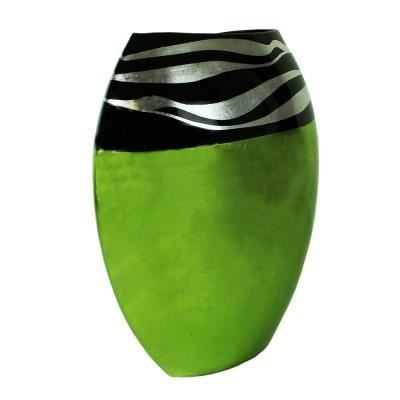 grand vase d co en bambou vert achat vente vase. Black Bedroom Furniture Sets. Home Design Ideas