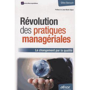 LIVRE GESTION Révolution des pratiques managériales
