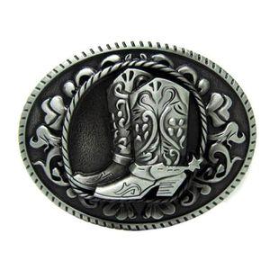 Ceinture western en cuir de cow-boy avec boucle celtique rectangulaire