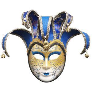 Antique Shine OR plein visage vénitien élégant Théâtre Drama Masque