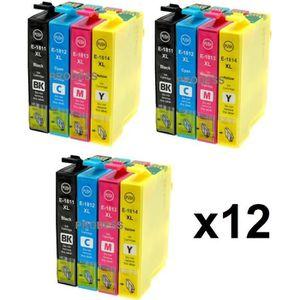 CARTOUCHE IMPRIMANTE Kit de 12 cartouches compatibles Epson 18 XL pour