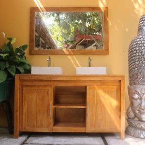 Meuble salle de bain teck