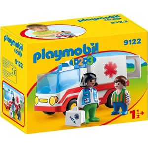 UNIVERS MINIATURE PLAYMOBIL 9122 - PLAYMOBIL 1.2.3 - Ambulance