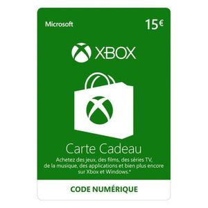 CARTE PRÉPAYÉE Code Xbox Live 15€