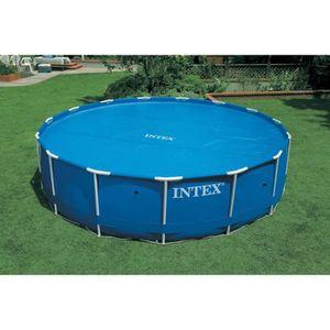 BÂCHE - COUVERTURE  INTEX Bâche à bulles piscine ronde diamètre 3,66 m