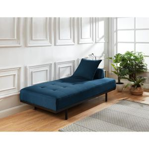 MÉRIDIENNE LINDON Méridienne DAYBED 3 places - Tissu bleu can