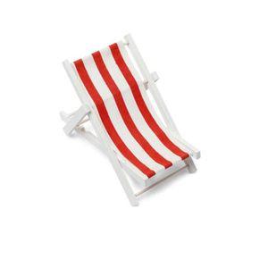 Décors de table TRANSAT ROUGE ET BLANC 10 X 21 CM  Rouge / Blanc
