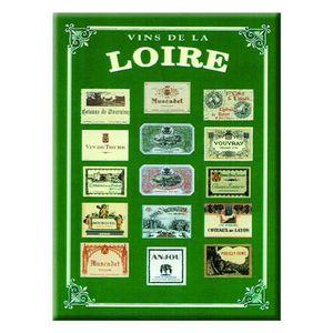 AFFICHE - POSTER Carte et Poster Métal Vins de Loire 21 x 15cm