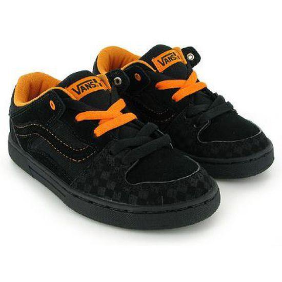 Chaussures De Skate Vans Baxter … BLACK/ORANGE - Cdiscount Chaussures
