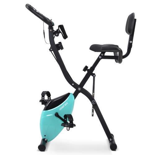Vélo d'appartement pliable magnétique, vélo d'exercice pour le cyclisme en salle d'entraînement cardio--BLEU