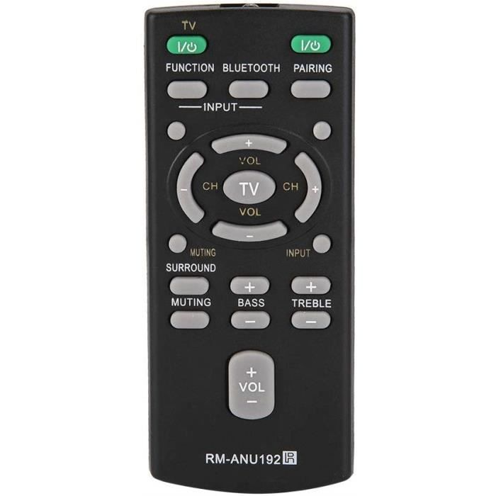Barre de Son Télécommande, Télécommande Enceinte Universelle Intelligente pour Sony SACT60BT HTCT60BT SSWCT60. 2012