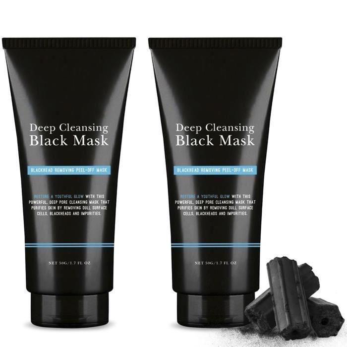 Masque anti point noir INFINITIVE 50g –Nettoyage en profondeur du visage pour enlever les points noirs [Black Mask pour soin visage]