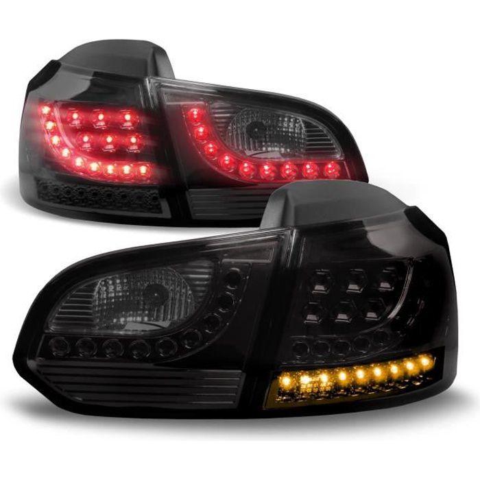 Feux arrière, LED, VW Golf 6 08-12, noir …