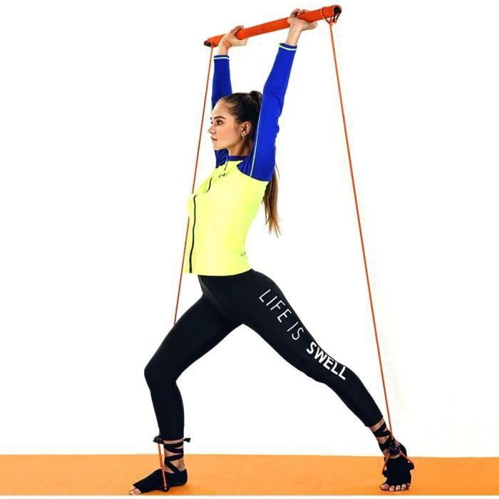Kit de Bandes de Résistance Elastiques Musculation Bandes de Fitness pour la Maison Voyage Gym Bodybuilding Entraînement Complet du