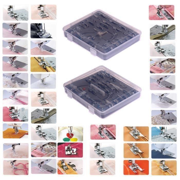Pied-de-biche pour machine à coudre domestique - Accessoires de couture multifonction 52 - Combinaison de jeu de pied-de-bic Aa30940