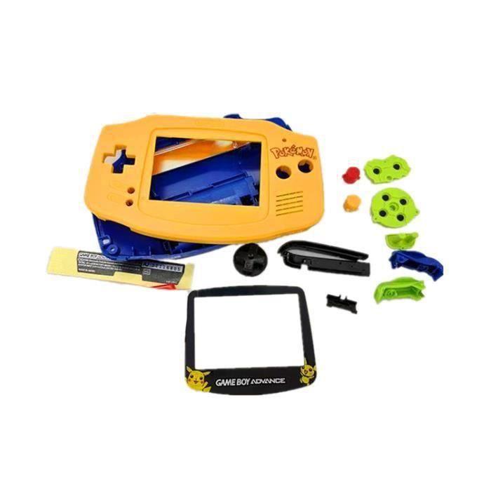 Compatible pour Nintendo GameBoy Advance GBA,Coque de console rigide kit de remplacement jaune FKT98