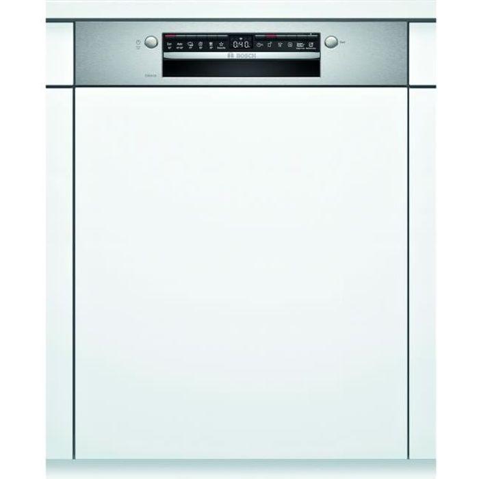 Lave-vaisselle intégrable BOSCH SMI4HVS31E - 13 couverts - Moteur induction - Largeur 60cm - Classe E - 46dB - Bandeau Inox