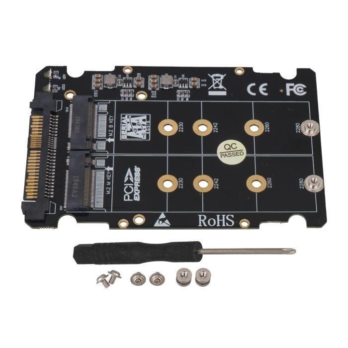 M.2 Nvme Ssd (clé M) clé B Ssd vers U.2 Adaptateur Sff 8639 avec outil d'installation