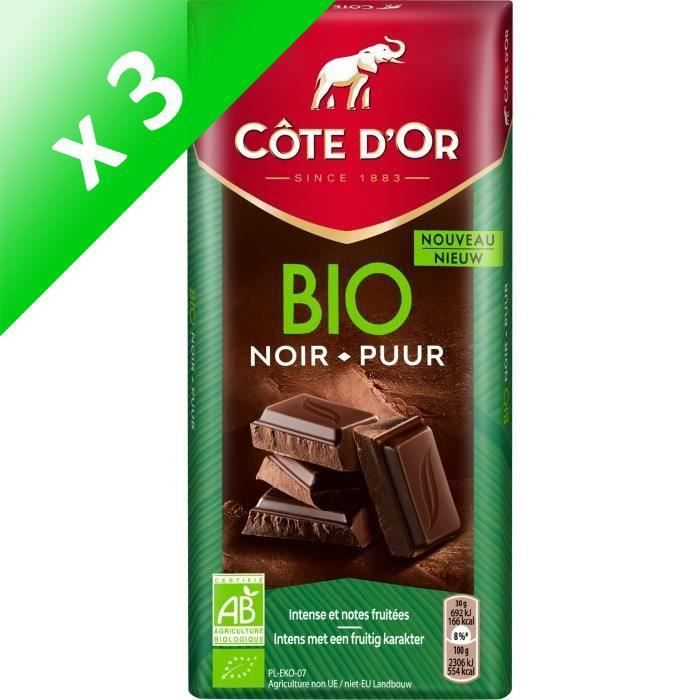 [LOT DE 3] Côte d'Or Orginal Bio tablette de chocolat noir 150g