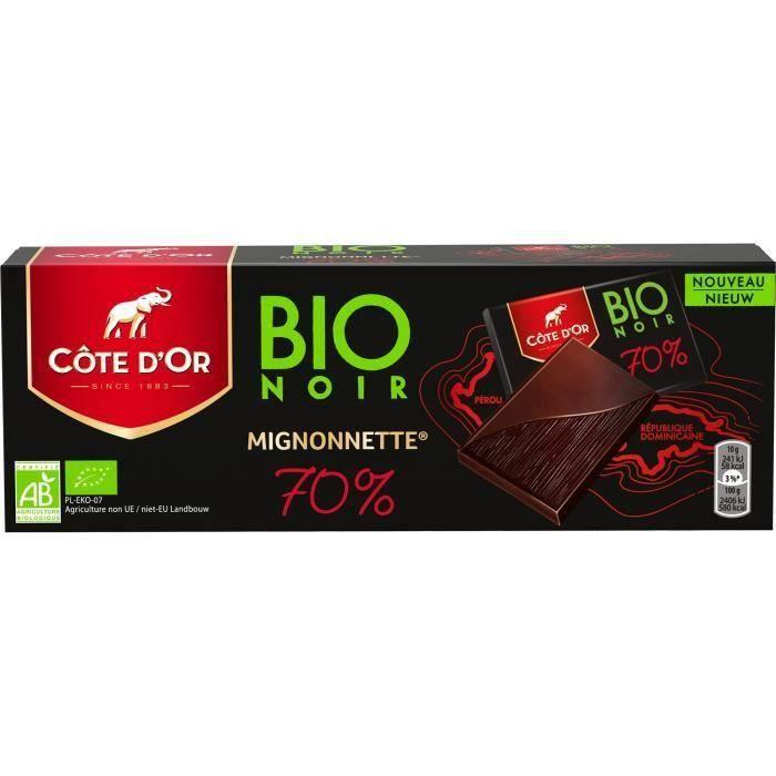 [LOT DE 3] Côte d'Or Mignonnette Bio chocolat noir 70% 180g