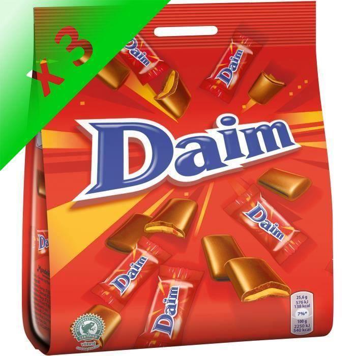 [LOT DE 3] DAIM Chocolat au lait fourré au caramel croquant - 200 g