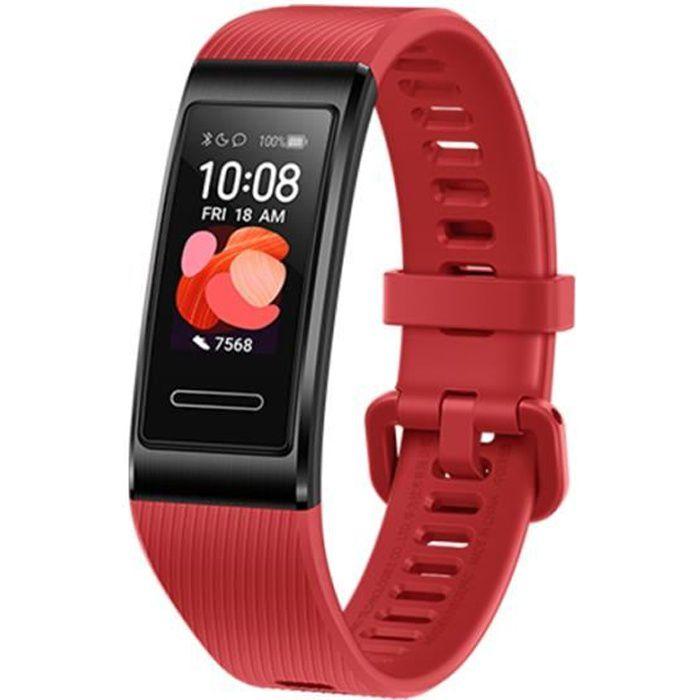 HUAWEI Band 4 Pro Rouge Amoled 0.95 'Matériel métallique Test d'oxygène sanguin Capteur de fréquence cardiaque Bracelet de sommeil
