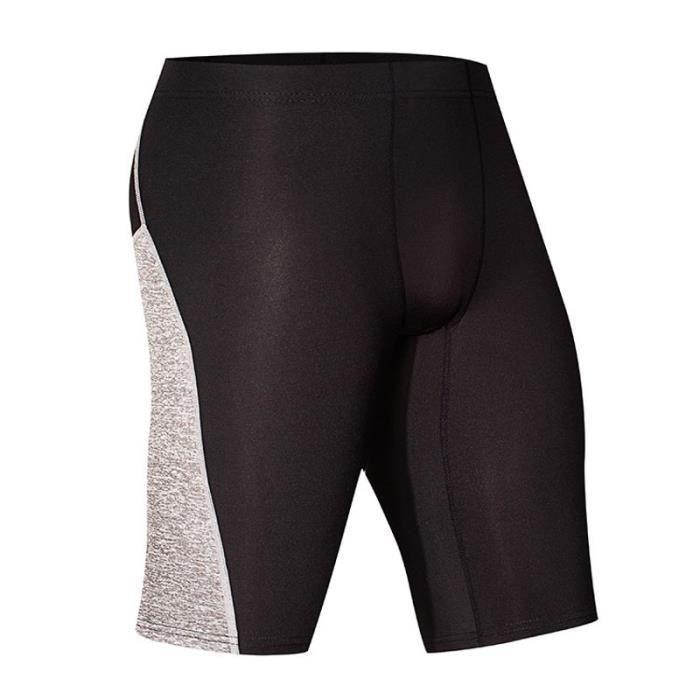 Short de Sport Compression Homme Élastique Leggings Short Collant Pour Cyclisme Fitness Séchage Rapide
