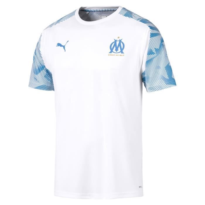 MAILLOT TRAINING OLYMPIQUE MARSEILLE TOP BLANC ADULTE 2019/20