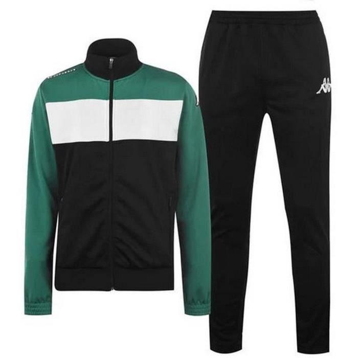 Jogging Kappa Homme Noir Blanc et Vert