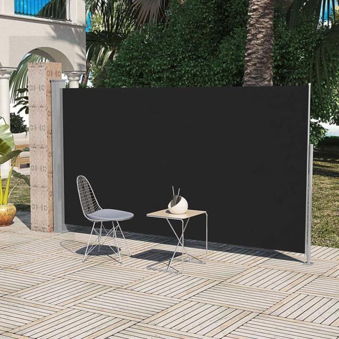 Economique Haute qualité Paravent Store vertical Patio Terrasse 160 x 300 cm Noir