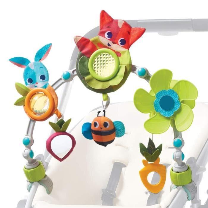 Tiny Love Arche d'activités Articulée pour bébé, clips de fixation universels compatibles avec poussettes, nacelles et cosi, Dès la