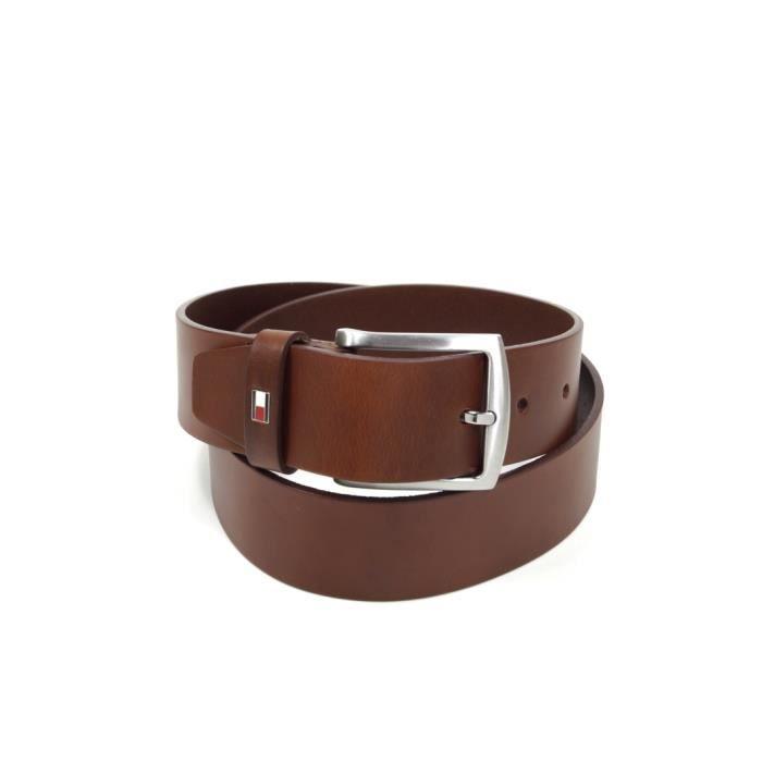 Tommy Hilfiger - Tommy Hilfiger Hommes New Denton Belt Tan brun 100 cm Réf 55577