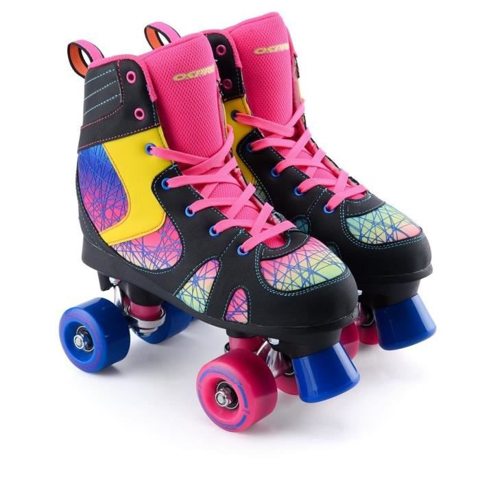 OSPREY Patins à roulettes Spectrum - Enfant - Noir, rose et bleu