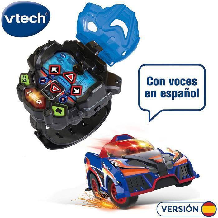 VTech - Turbo Force Racer Bleu Mini Voiture télécommande Rechargeable, Couleur (3480-198422) 4112