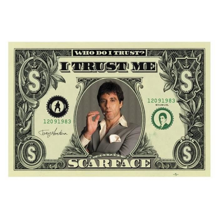 poster scarface achat vente poster scarface pas cher. Black Bedroom Furniture Sets. Home Design Ideas