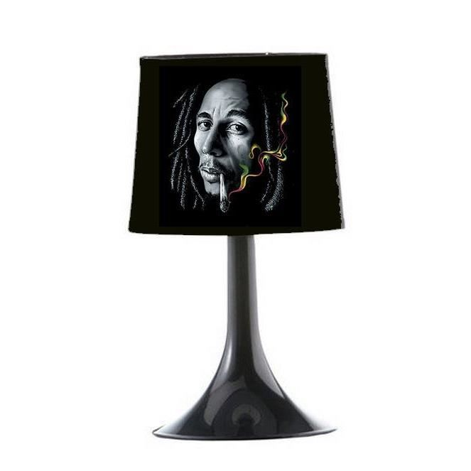 lampe de chevet bob marley noir achat vente lampe de. Black Bedroom Furniture Sets. Home Design Ideas