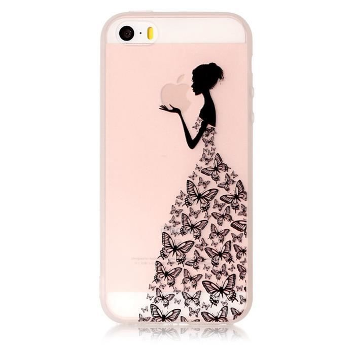 COQUE IPHONE 7, femme papillons - 338X - EDITION LUXE - réf ...
