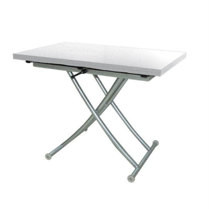 Table relevable extensible free blanche achat vente - Table extensible et relevable ...
