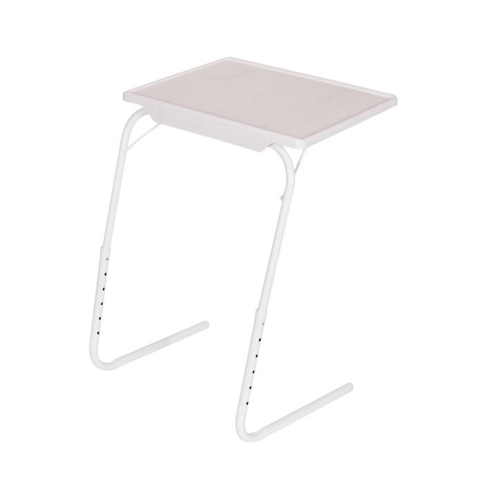 Table d 39 appoint pliante blanc achat vente table b b for Petite table d appoint pliante bois