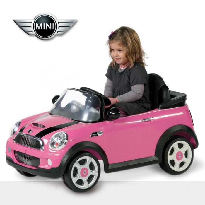 biemme mini cooper electrique avec radiocommande rose. Black Bedroom Furniture Sets. Home Design Ideas
