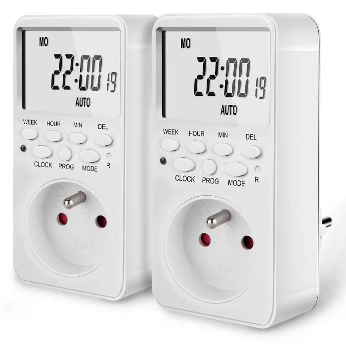 Prise Électrique Programmable Digitale LCD Programmateur Minuteur Jour Semaine