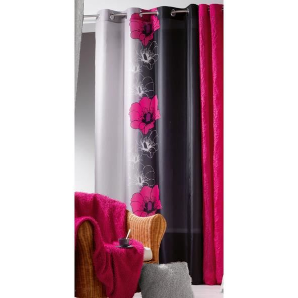 rideau occultant rose fushia. Black Bedroom Furniture Sets. Home Design Ideas