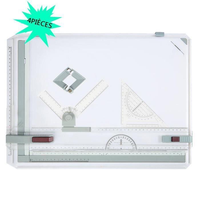 TABLE A DESSIN 4PCS Planche à Dessin A3 Drawing Board Table à Des
