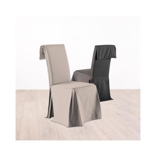 housse de chaise coton lin achat vente housse de. Black Bedroom Furniture Sets. Home Design Ideas