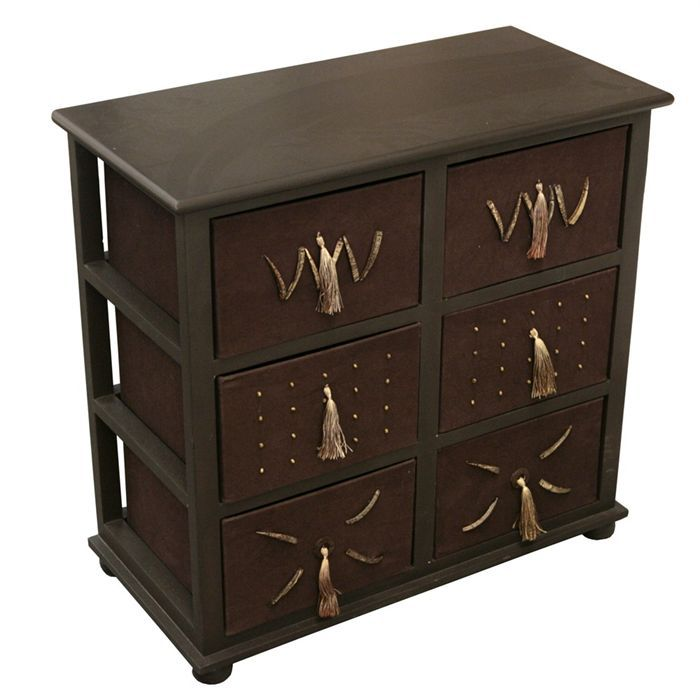 meuble 6 tiroirs ethnique achat vente meuble 6 tiroirs ethnique cdiscount. Black Bedroom Furniture Sets. Home Design Ideas