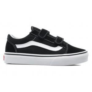 vans old skool v baskets basses enfant noir noir. Black Bedroom Furniture Sets. Home Design Ideas